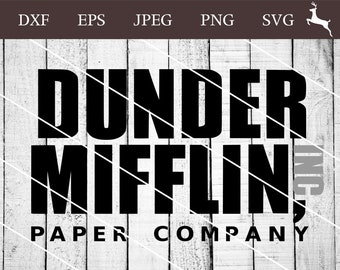 graphic regarding Dunder Mifflin Name Tag Printable titled Dunder mifflin svg Etsy