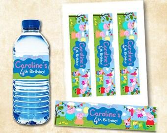 Peppa Pig Water Bottle Labels, Peppa Pig Water Bottle, Peppa Pig Bottle Labels, Peppa Pig Birthday, Peppa Pig Water Bottle Labels Printables
