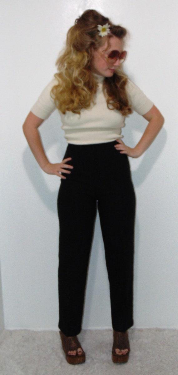 MEKO Fabric Pants Nicypants Women/'s Red Carrot Pants with High Waist Highwaist WaistFold Pants
