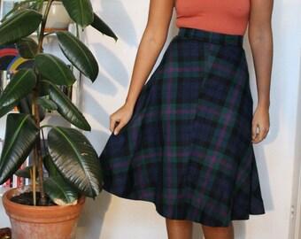 c64aab6e3 Multi-colour tartan skater skirt, Vintage 36 (Fits XS)