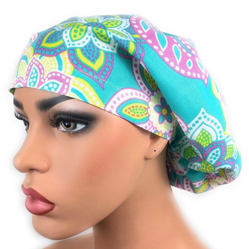 12254542636a97 Surgical Scrub Hat Scrub Cap womens scrub hat Chemo Hat | Etsy