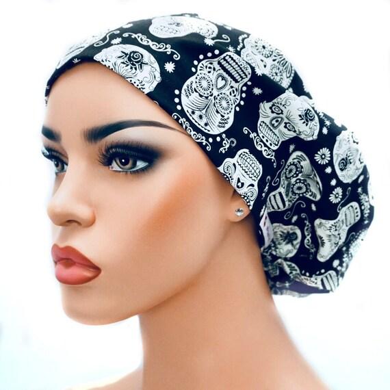 82aaff23bef Surgical Scrub Hat OR Hat Womens Scrub Cap Chemo Hat