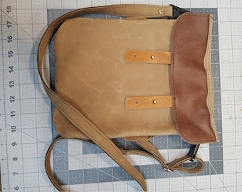 Leather Cross-body Handbag
