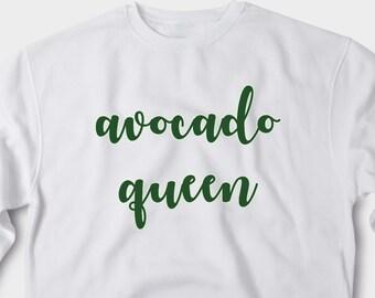 b120f8db913 Avocado Queen Sweatshirt Avocado Lover Gift Aesthetic Clothing Vegan Gift  Vegeterian Avocado Shirt The Weeknd Clothing Tumblr ANM3026