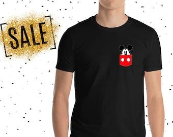 72066c8c0d8e1 Mickey Mouse Pocket Men s Shirt. Simple Shirt. Disney Men s Custom Shirt.  Trendy Men s Shirt.  E0812