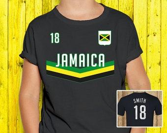 80a580c64 Kids Aesthetic Jamaica Shirt   Jamaican Soccer Clothing - Boys World Cup  Jersey