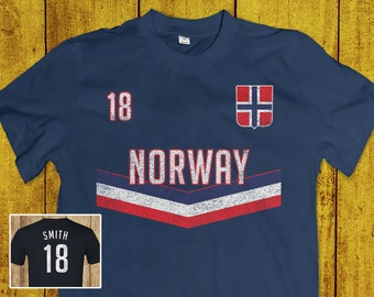 Norway Soccer Shirt - Football Flag Jersey - Nordic World Cup Tee For Men    Women eec31f7a5