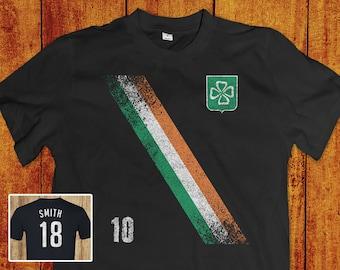 cadcbd52e8e Irish Soccer Jersey - Lucky Irish 4 Leaf Clover Shirt For Men   Women