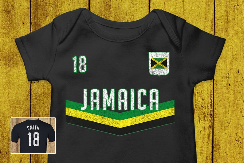 watch d2309 511cd Custom Baby Jamaica Soccer Onesie - World Cup Shirt