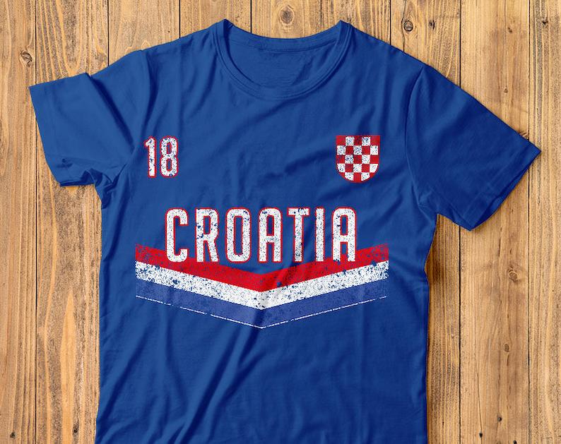 0ecaa8322 Croatia Soccer Shirt Fifa World Cup Jersey | Etsy
