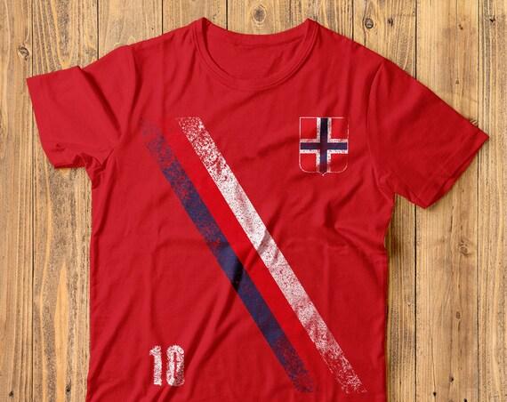 13f3eb277 Norway Soccer Shirt Norwegian Retro Football Flag Sash