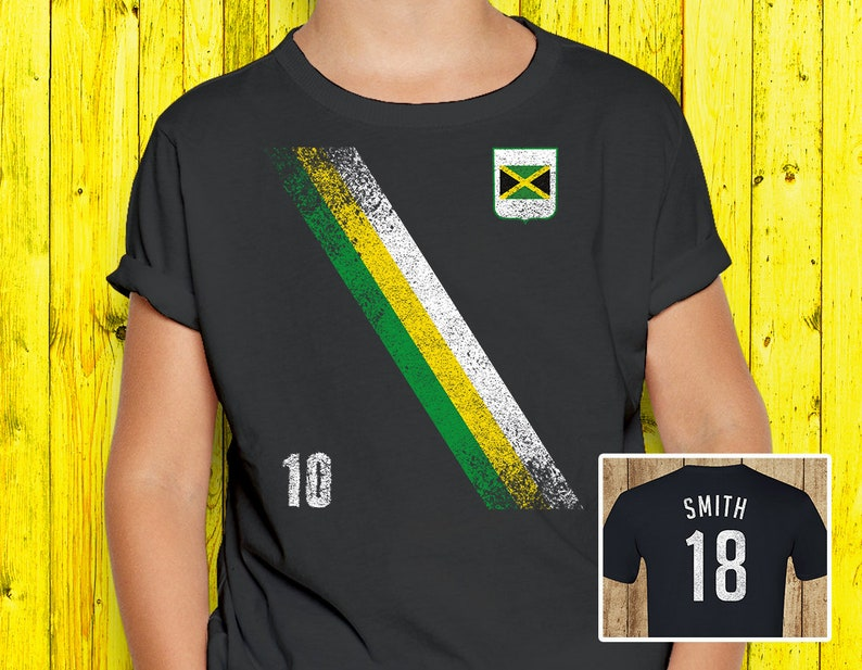 size 40 4dd0a 688be Kids Vintage Jamaica Soccer Jersey - Boys & Girls World Cup Shirt
