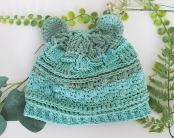 66456bdf722c9 Handmade Baby Hat - Baby Bear Beanie - Winter Hat for Boys - Bear Hat for