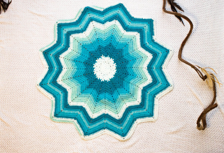 Handmade Baby Crochet Baby Star Blanket Crochet Baby Boy Blanket