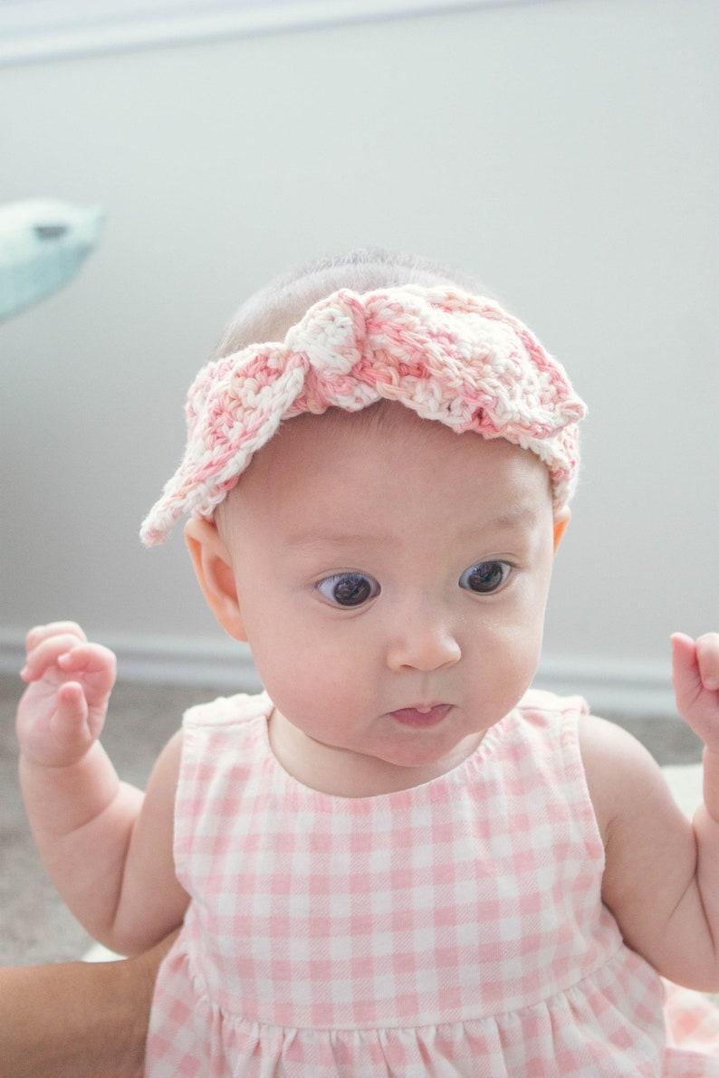 Blue Baby Headband Girls Kono Toddlers Knotted Headband for Babies Crochet Baby Headband Women Blue Newborn Headband