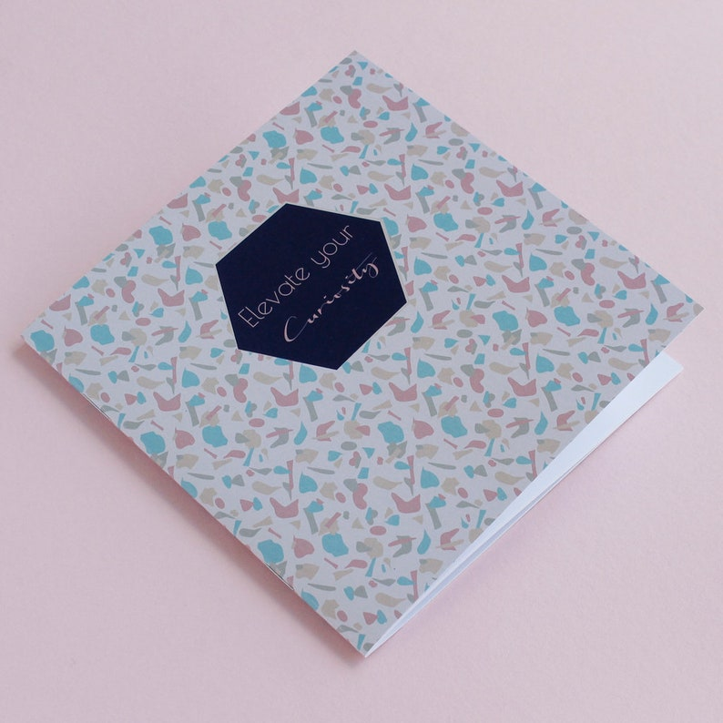 Terrazzo /& Marble Pattern Bullet Journal Stationery Graduation Gift and Best Friend Gift Elevate Your Curiosity Notebook To Do List