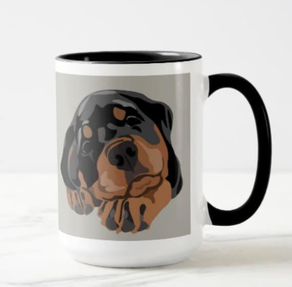 Rottweiler Puppy Coffee Mug 15 Ounce