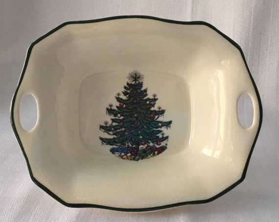 image 0 - Cuthbertson Christmas Tree Candy Or Nut Dish Made In Etsy