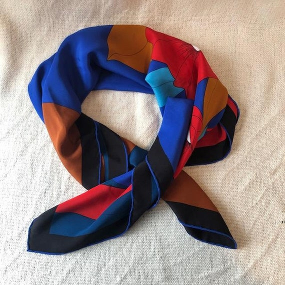Vintage Silk Scarf by Madame Gres, Pattern of Flow