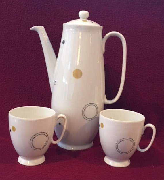 Mid Century Modern Set Coffee Pot And 2 Demitasse Cups By Etsy