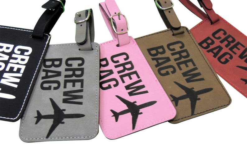 Crew Bag Tag Set of Two with Graphic with