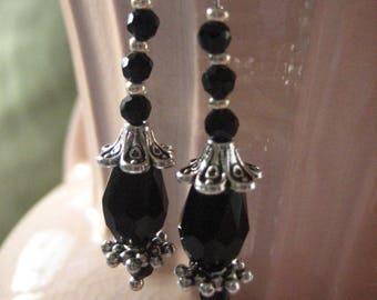 Black Crystal Victorian Drops
