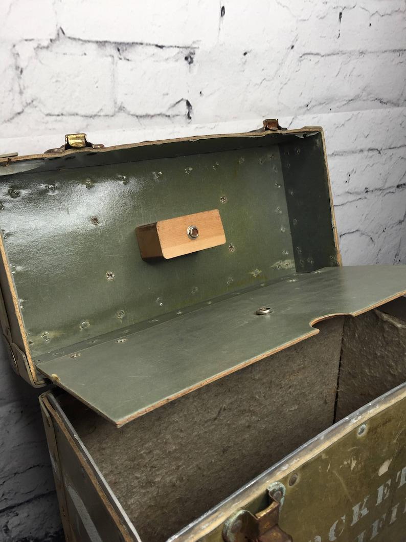 Rangement Vinyl 45 Tours vintage boite de transport sprocketape, valise pour vinyles, boite d'armée,  rangement de disques, rangement vinyle vintage, chicshackantique