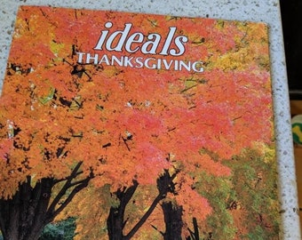 Ideals Thanksgiving Paperback. Thanksgiving Stories Vol. 55 No. 5. 80s Story Book with Illustrations.