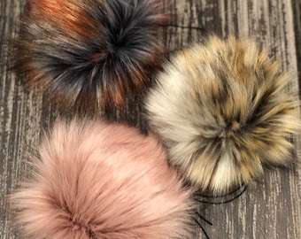 ef35eeb0963 3 Luxury Faux Fur PomBombs