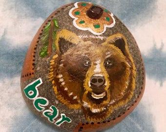 Bear Spirit Animal Stone