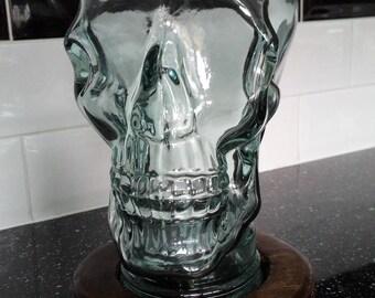 Glass skull & base led mood light