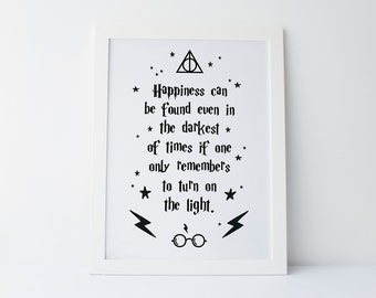 c43ac32ac Harry Potter Quote - Happiness Can Be Found Even In The Darkest Of Times -  Kids Print - Wall Art