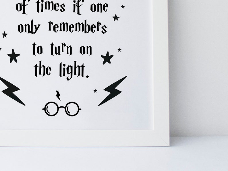 7eda61a8d52 Harry Potter Quote Happiness Can Be Found Even In The
