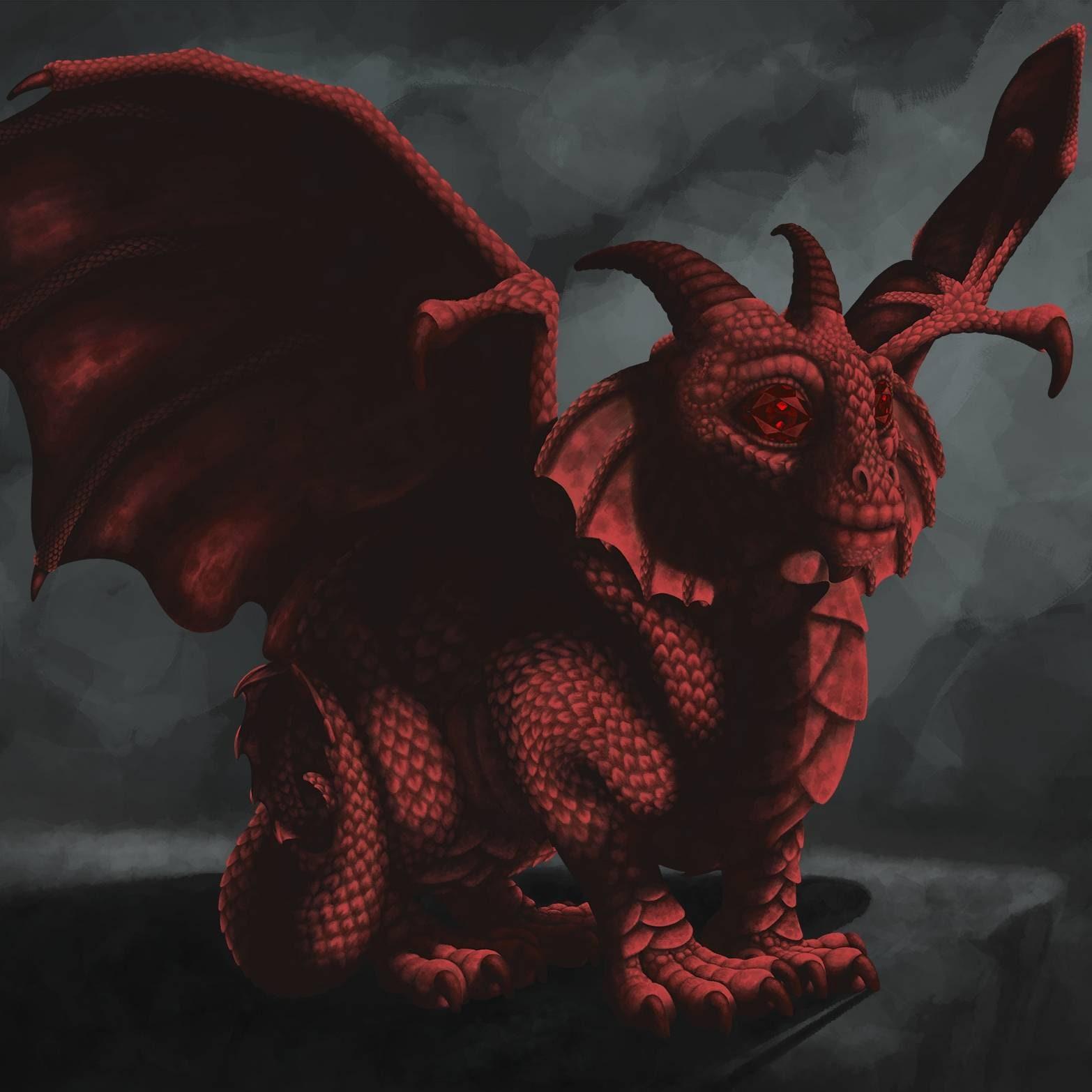 Close Encounters Red Dragon 3 11x11 Art Print