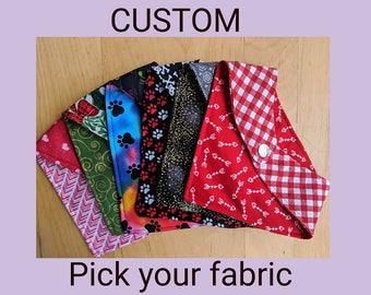 CUSTOM Reversible Pet Bandana - You choose your fabrics