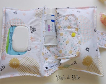 Bag diapers for elephants pink-baby-moms-new birth idea-aper clutch