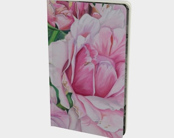 Pink Floral Notebook - Watercolor Painting on Note book