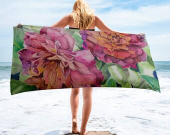 Two Flowers Towel