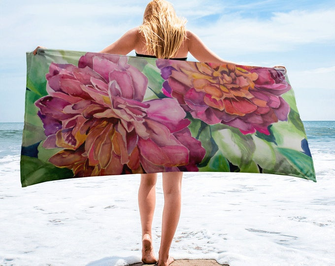 Two Flowers Towel