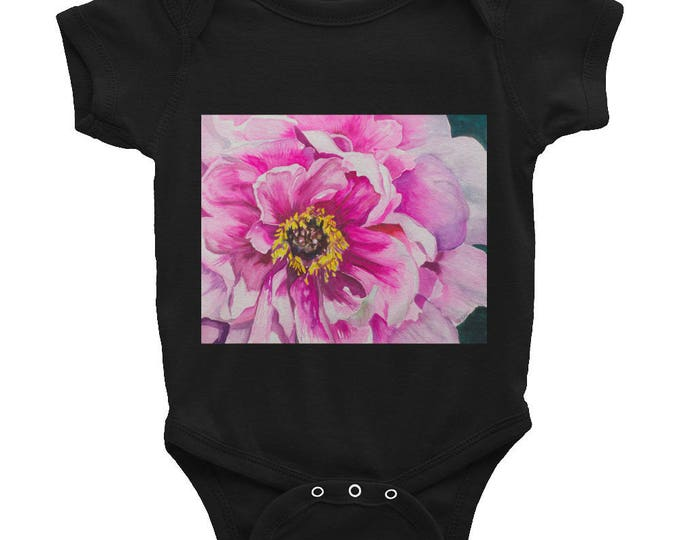 Infant Bodysuit, Desert Landscape, Watercolor Painting on Baby Wear