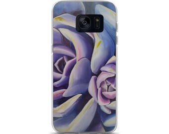 Succulent Samsung Case- Watercolor Painting on Phone Case
