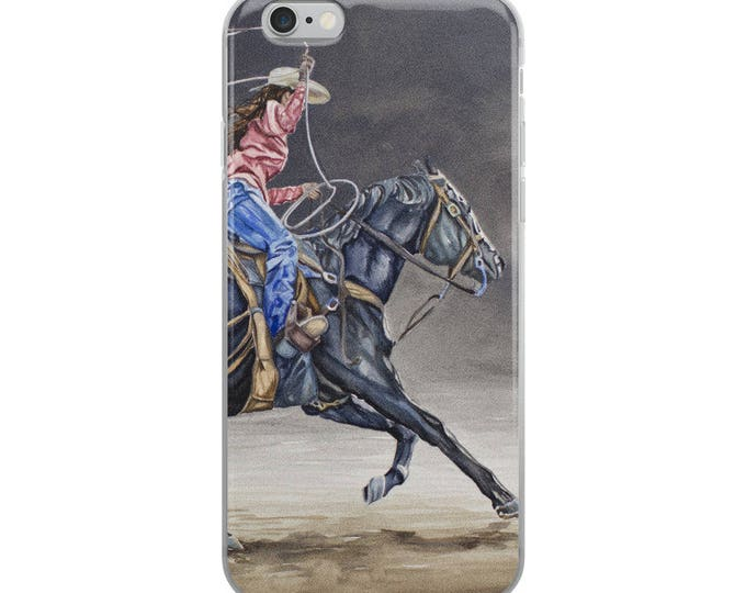 Cowgirl Roping iPhone Case