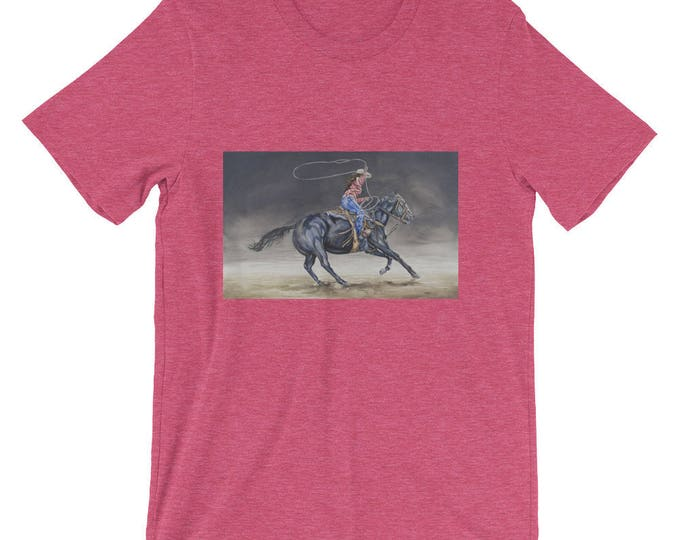 Cowgirl Roping Short-Sleeve Unisex T-Shirt