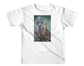 Cowboy Riding a Horse- Short sleeve kids t-shirt
