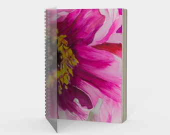 Pink Flower Spiral- Watercolor Painting on Sketchbook, Note Book, Drawing pad