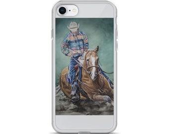 Cowboy Riding a Horse- iPhone Case