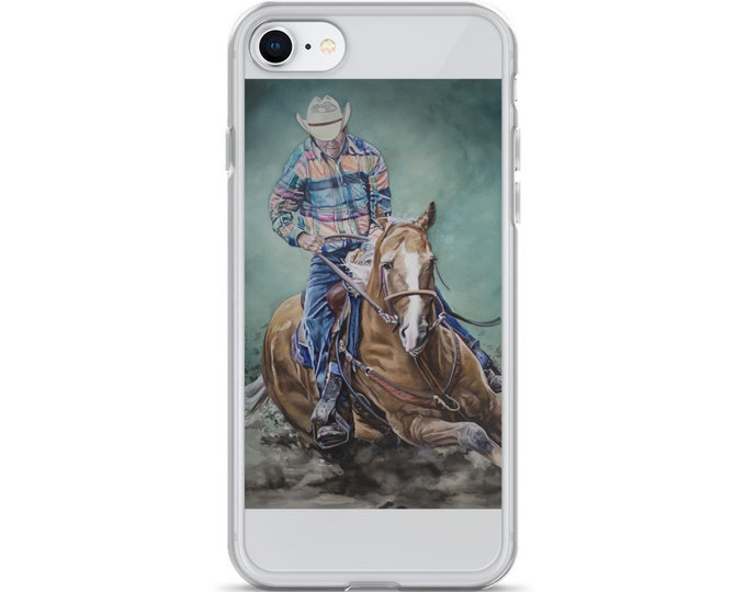 Cowboy Riding a Horse- iPhone Case