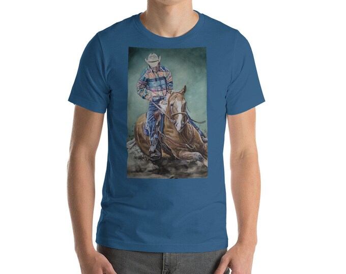 Cowboy Riding a Horse- Short-Sleeve Unisex T-Shirt