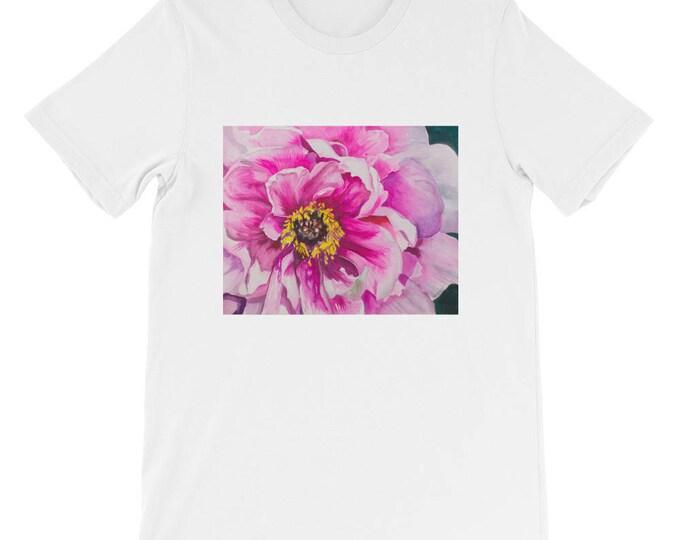 Pink Flower Short-Sleeve Unisex T-Shirt