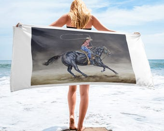 Cowgirl Roping Towel